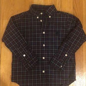 Boys 4T plaid button down shirt